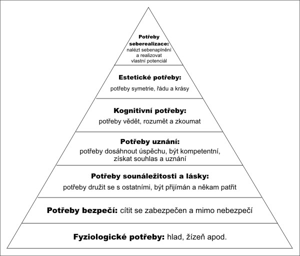 Výsledek obrázku pro maslow pyramida potřeb
