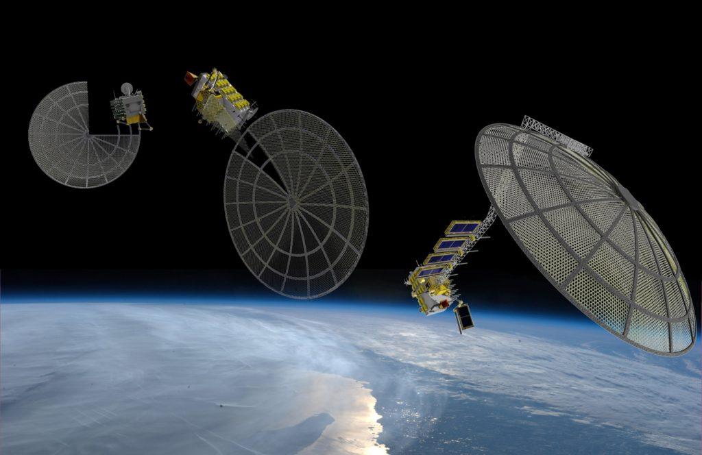 tištěná parabolická anténa