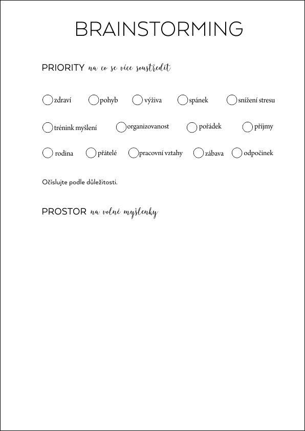 priority - brainstorming
